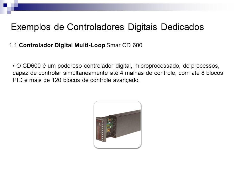 Exemplos de Controladores Digitais Dedicados 1.1 Controlador Digital Multi-Loop Smar CD 600 O CD600 é um poderoso controlador digital, microprocessado