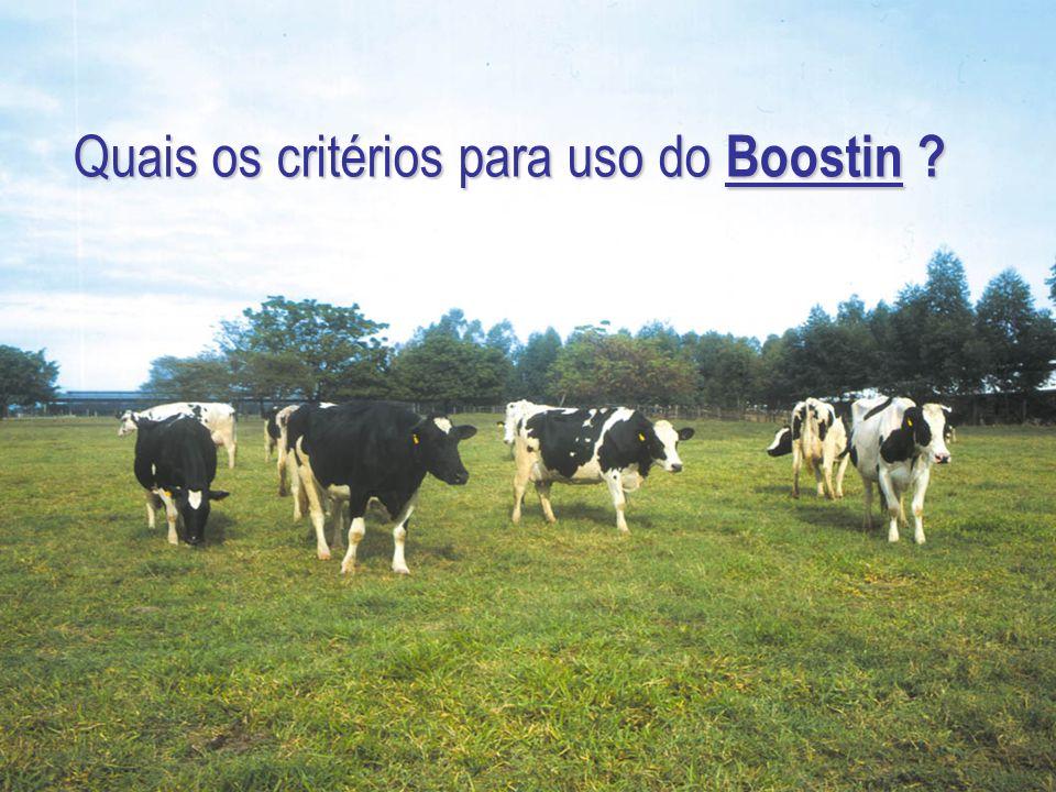 Quais os critérios para uso do Boostin ?