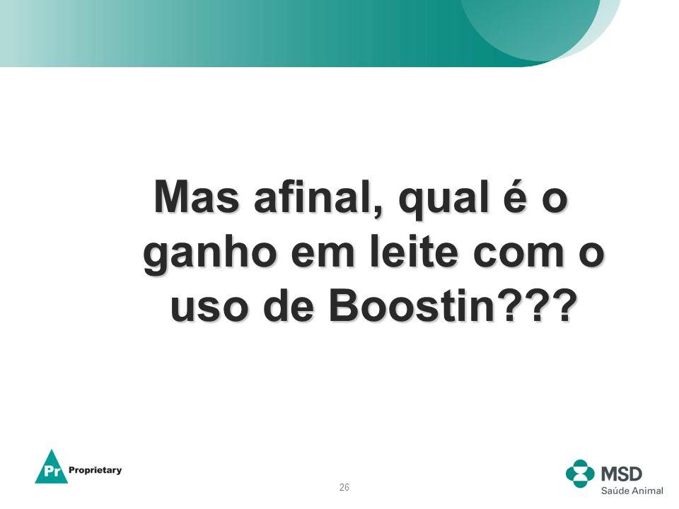26 Mas afinal, qual é o ganho em leite com o uso de Boostin???
