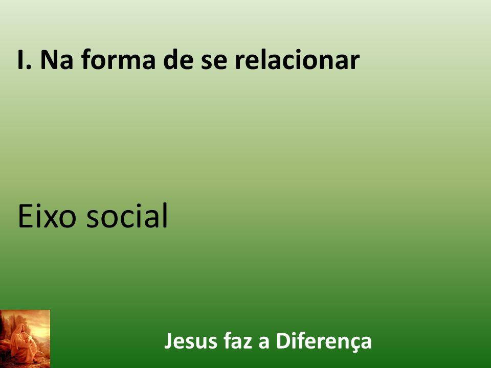 Jesus faz a Diferença I. Na forma de se relacionar Eixo social