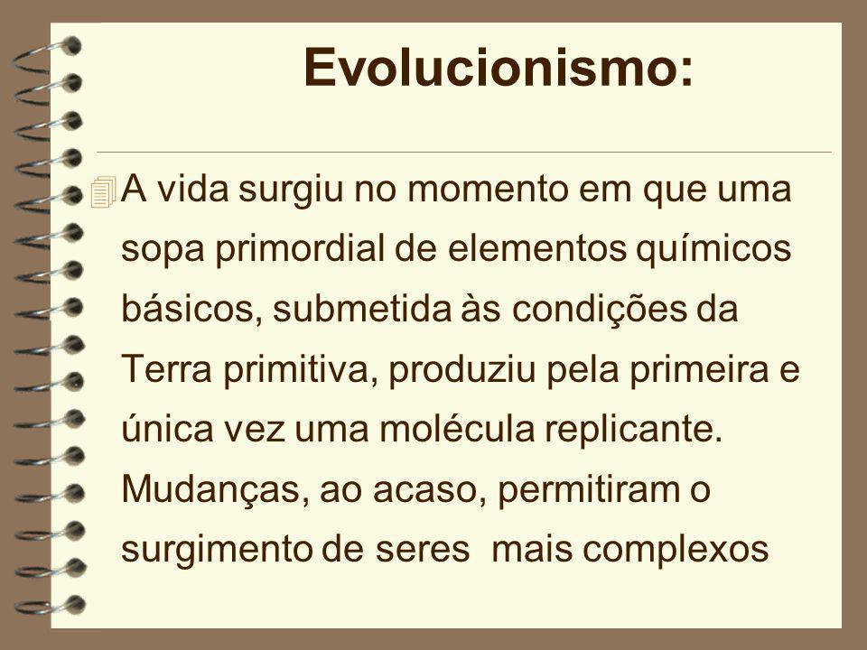 As Teorias sobre a Vida 4 O marco maior desses conflitos: 1859, A Origem das Espécies por Meio da Seleção Natural, de Charles Darwin. 4 Origem da Vida
