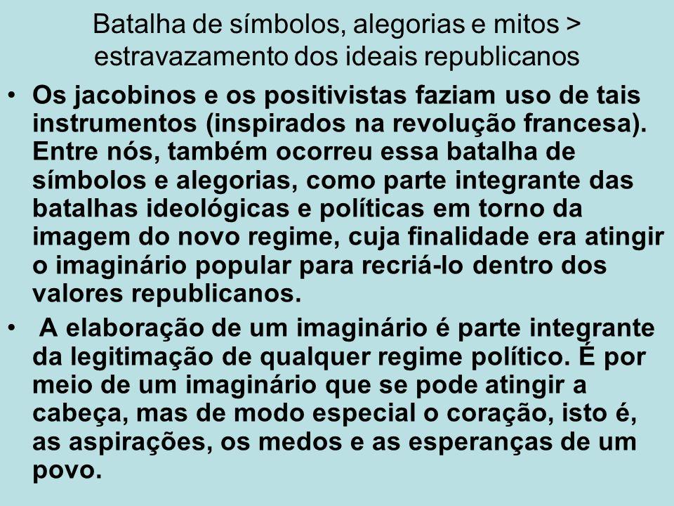 As proclamações Carvalho afirma que ocorreram muitas disputas em relação ao 15 de Novembro para definir os principais protagonistas desse fato histórico.