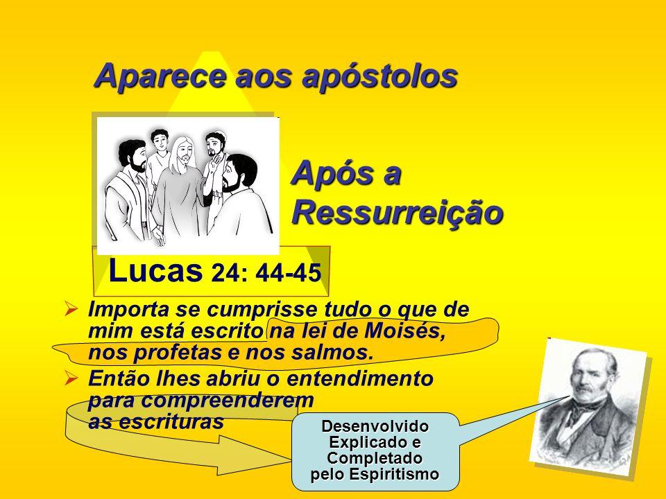 Lucas 24: 44-45 Importa se cumprisse tudo o que de mim está escrito na lei de Moisés, nos profetas e nos salmos. Então lhes abriu o entendimento para