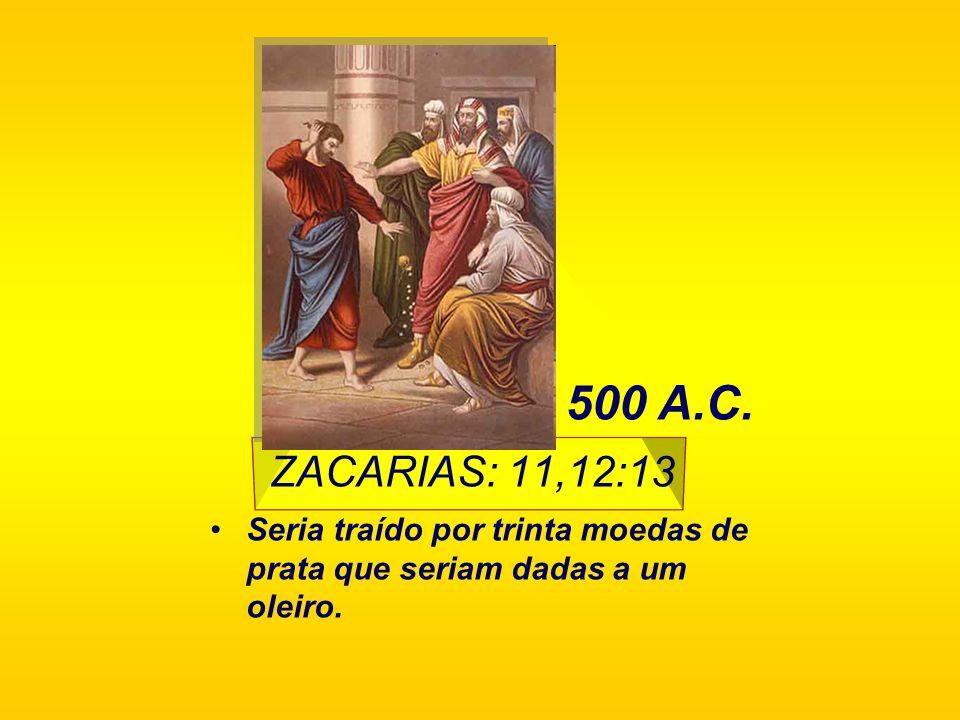 Isaías 50:6 Seria cuspido e esbofeteado. 750 A.C.
