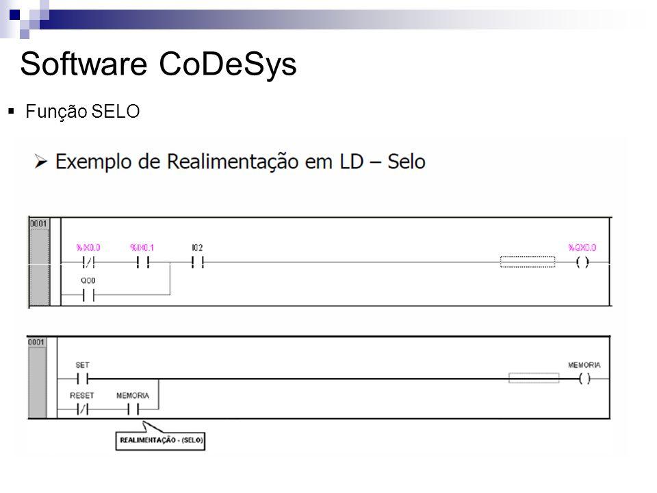 Software CoDeSys Função SELO