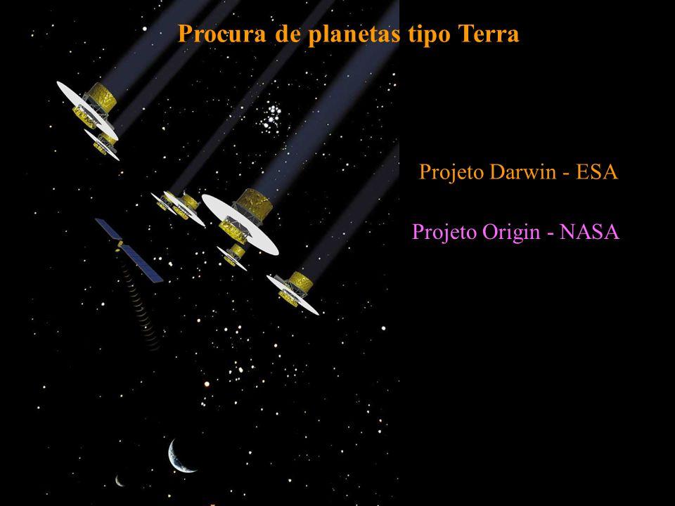 Procura de planetas tipo Terra Projeto Darwin - ESA Projeto Origin - NASA