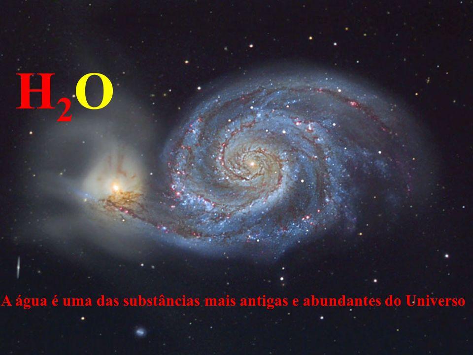H2OH2O A água é uma das substâncias mais antigas e abundantes do Universo