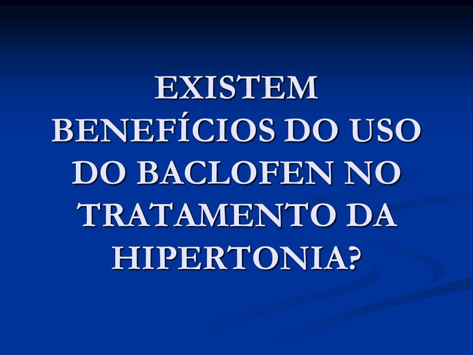 EXISTEM BENEFÍCIOS DO USO DO BACLOFEN NO TRATAMENTO DA HIPERTONIA?