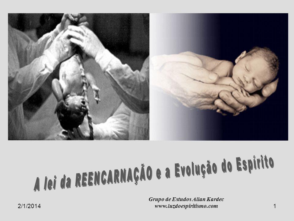 2/1/20142 A lei da REENCARNAÇÃO e a Evolução do Espírito Ninguém pode ver o reino de Deus se não nascer de novo 1.