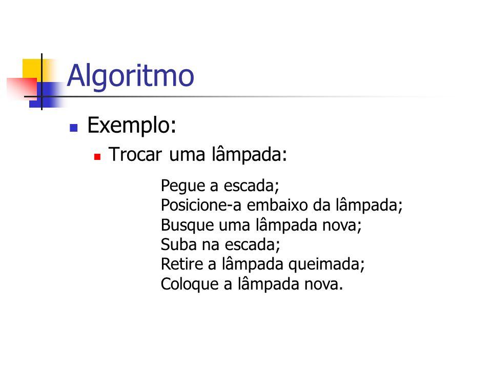 Algoritmo Exercício: E se a visita estiver de Regime.