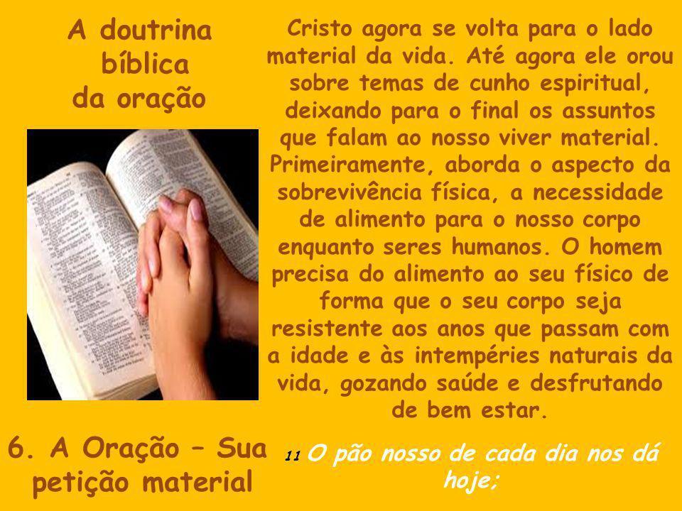 A doutrina bíblica da oração 6.