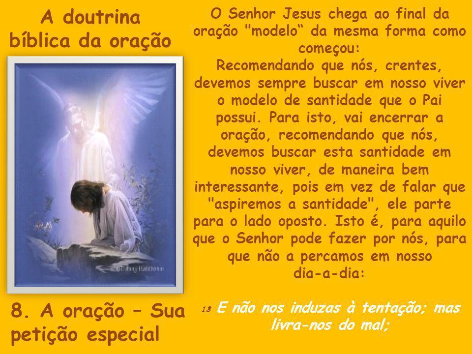 O Senhor Jesus chega ao final da oração