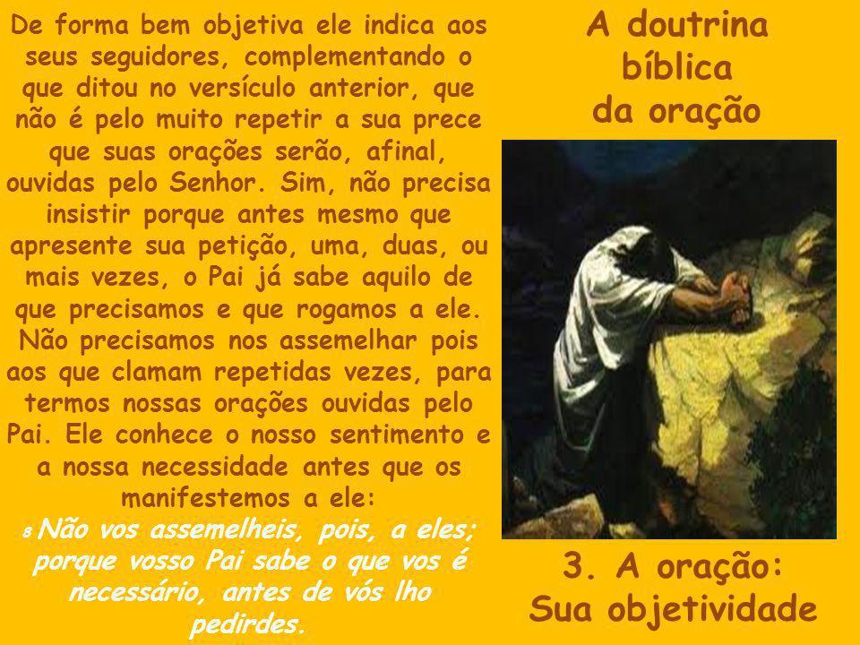 A doutrina bíblica da oração 3.