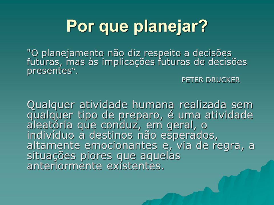 Por que planejar?