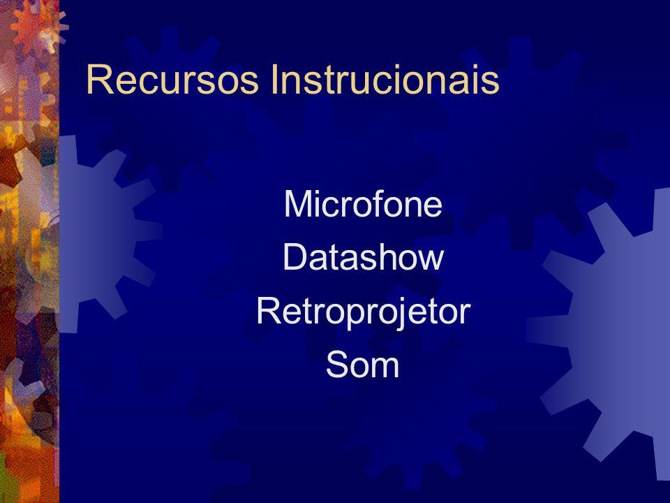 Recursos Instrucionais Microfone Datashow Retroprojetor Som