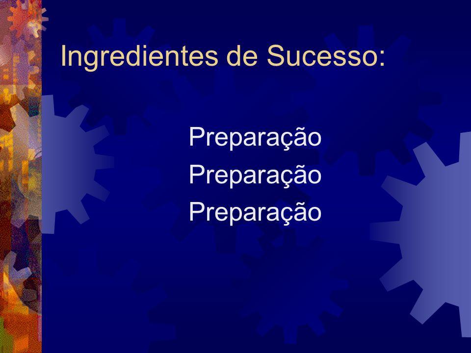 Ingredientes de Sucesso: Preparação