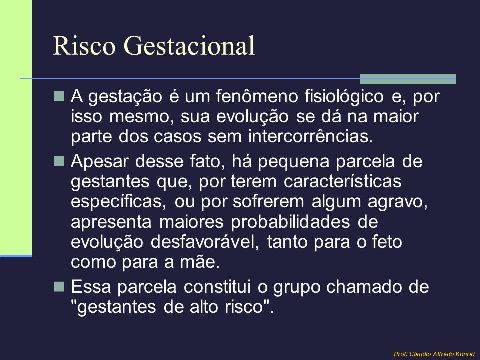 Risco Gestacional A gestação é um fenômeno fisiológico e, por isso mesmo, sua evolução se dá na maior parte dos casos sem intercorrências. Apesar dess