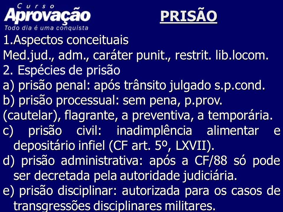MANDADO DE PRISÃO Ordem escrita e fundamentada da autoridade judiciária, a restrição da liberdade individual.