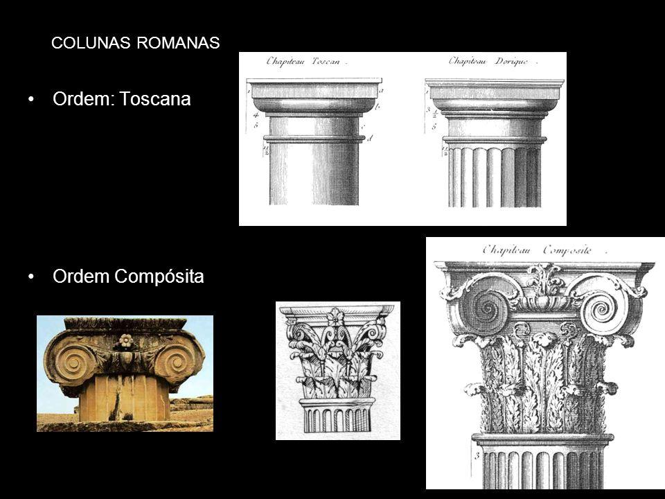 Ordem: Toscana Ordem Compósita COLUNAS ROMANAS