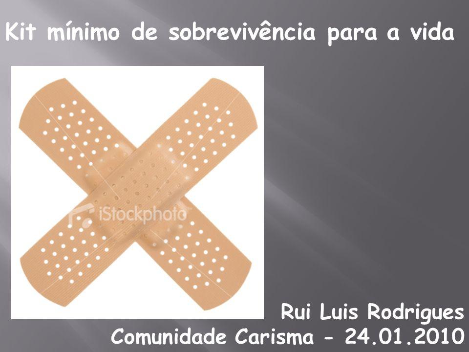 Kit mínimo de sobrevivência para a vida Rui Luis Rodrigues Comunidade Carisma - 24.01.2010