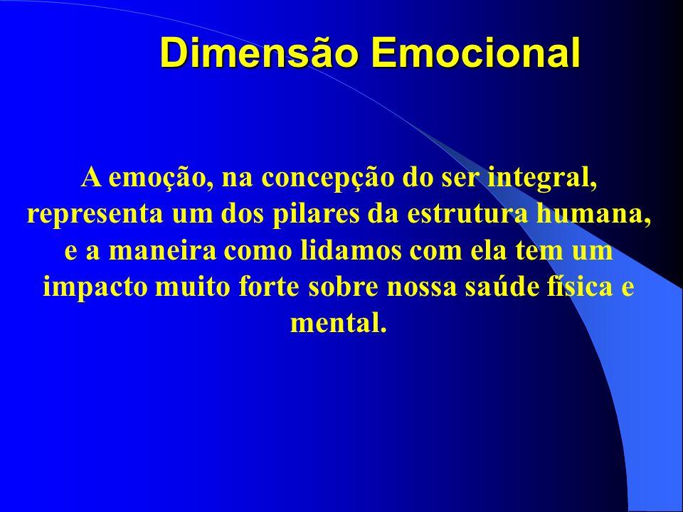 A emoção, na concepção do ser integral, representa um dos pilares da estrutura humana, e a maneira como lidamos com ela tem um impacto muito forte sob