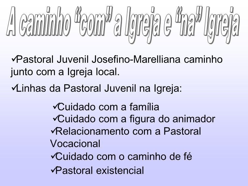 Pastoral Juvenil Josefino-Marelliana caminho junto com a Igreja local. Linhas da Pastoral Juvenil na Igreja: Cuidado com a família Cuidado com a figur