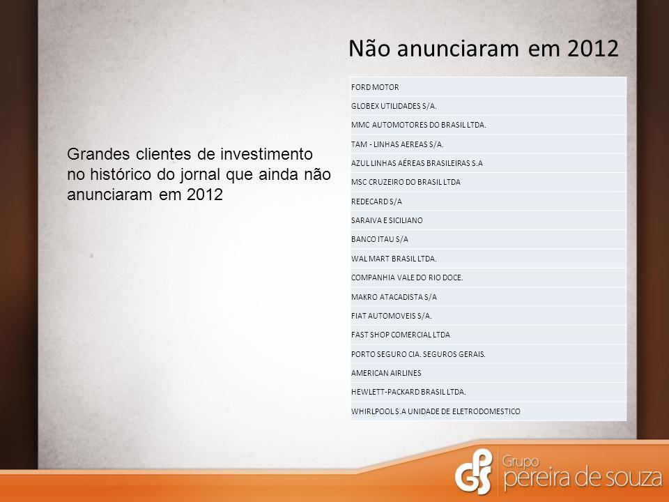 FORD MOTOR GLOBEX UTILIDADES S/A. MMC AUTOMOTORES DO BRASIL LTDA. TAM - LINHAS AEREAS S/A. AZUL LINHAS AÉREAS BRASILEIRAS S.A MSC CRUZEIRO DO BRASIL