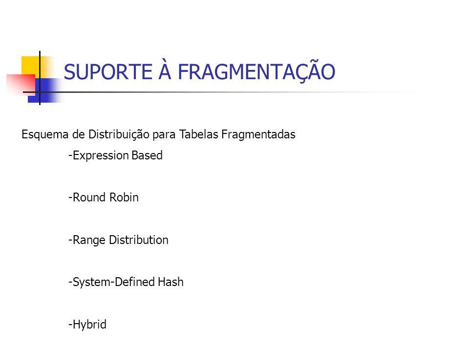 Processamento Distribuído de Consulta - O otimizador toma decisões baseado em informações dos catálogos do sistema.