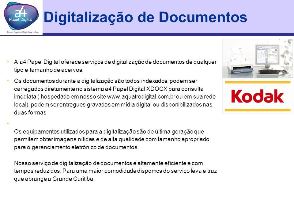Digitalização de Documentos A a4 Papel Digital oferece serviços de digitalização de documentos de qualquer tipo e tamanho de acervos. Os documentos du