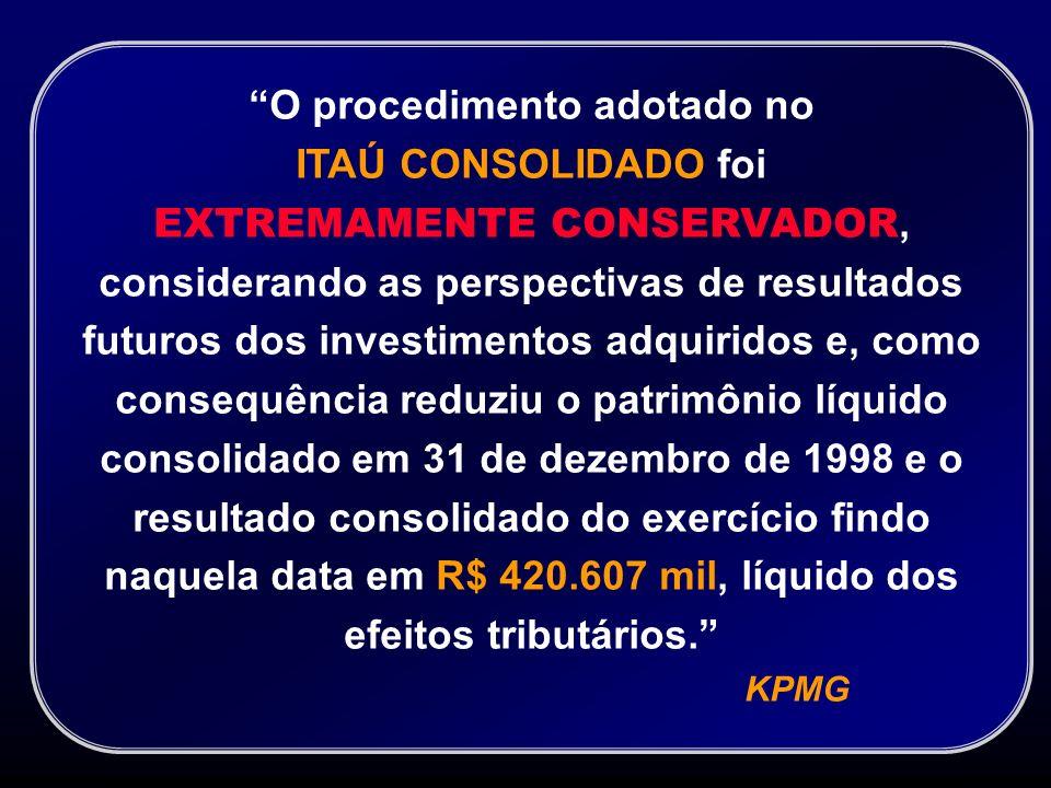 Reconciliação do Lucro Líquido entre o Itaú e o Itaú Consolidado Lucro Líquido - Itaú Amortização do Ágio Banco Bemge S.A.