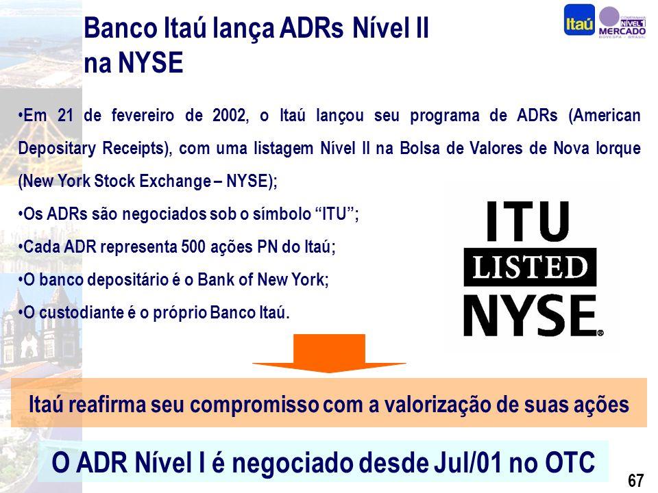 66 Financial Holding Company Foi concedido status de Financial Holding Company ao Banco Itaú pelo FED.
