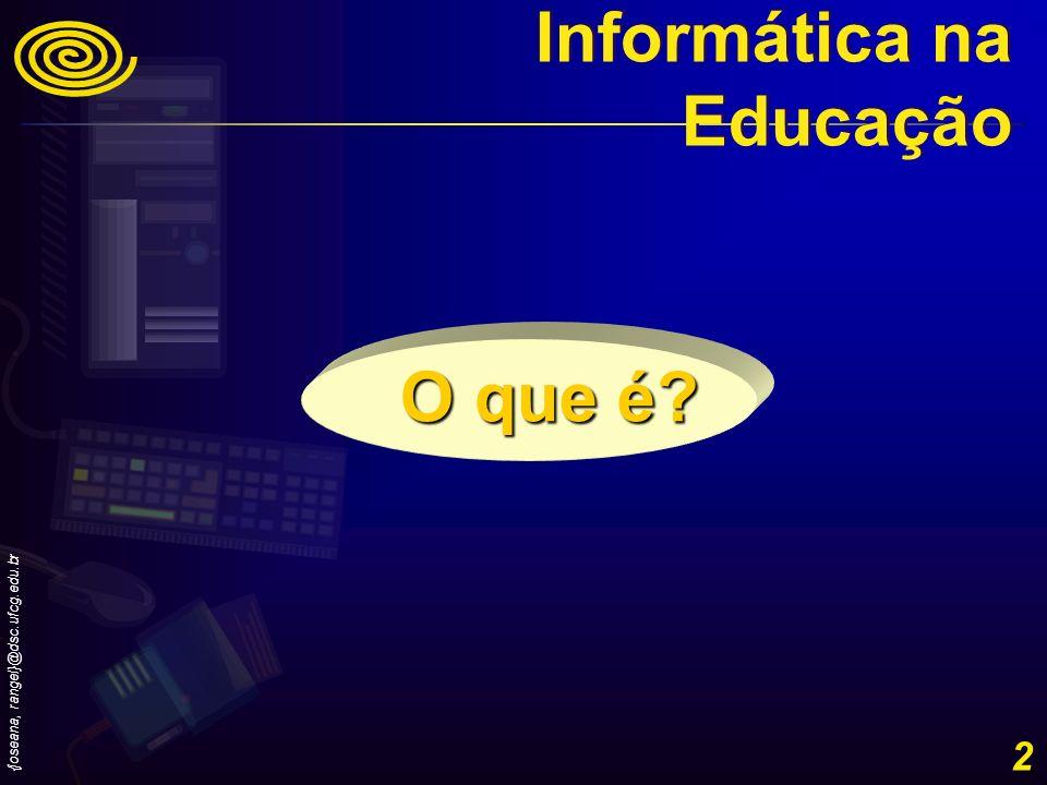 {joseana,rangel}@dsc.ufcg.edu.br 13 Evolução histórica do uso da Informática na Educação no Brasil - 1982- II Seminário Nacional de Informática na Educação.