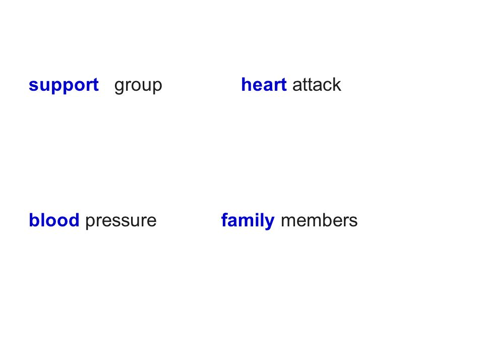 support group heart attack blood pressure family members