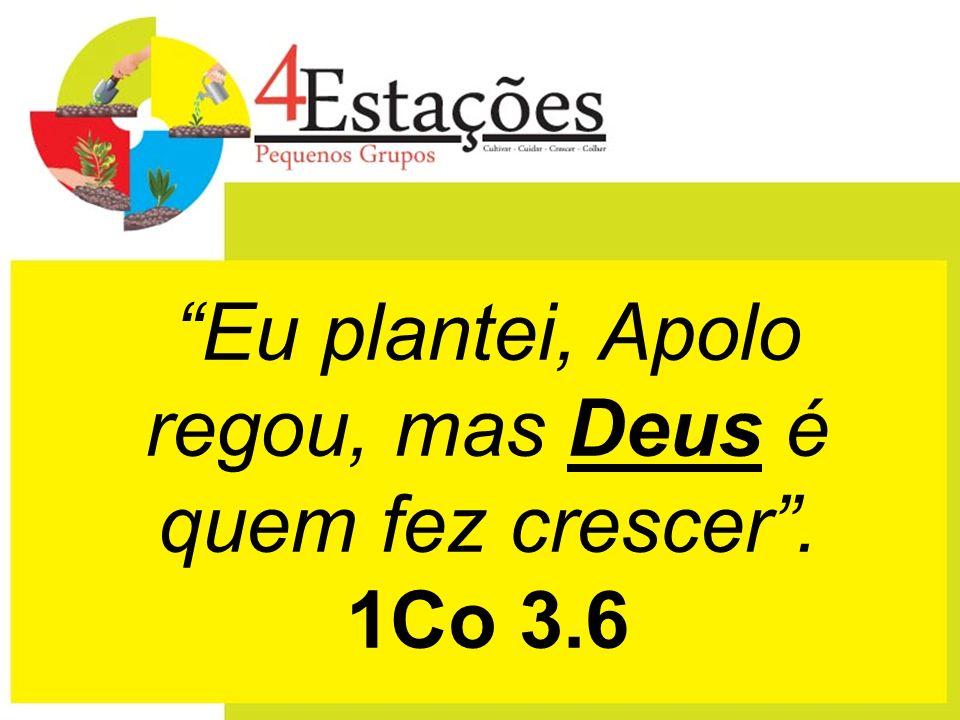 Eu plantei, Apolo regou, mas Deus é quem fez crescer. 1Co 3.6