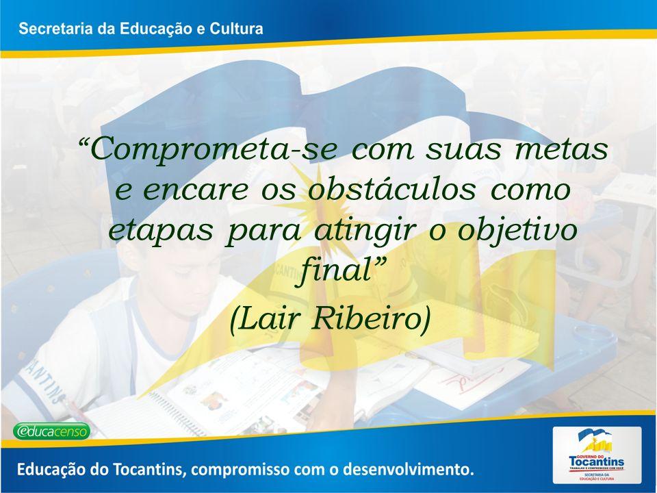 Comprometa-se com suas metas e encare os obstáculos como etapas para atingir o objetivo final (Lair Ribeiro)