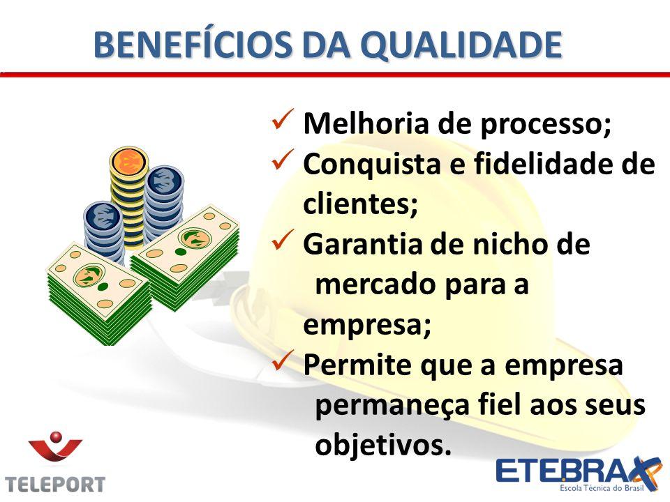Melhoria de processo; Conquista e fidelidade de clientes; Garantia de nicho de mercado para a empresa; Permite que a empresa permaneça fiel aos seus o