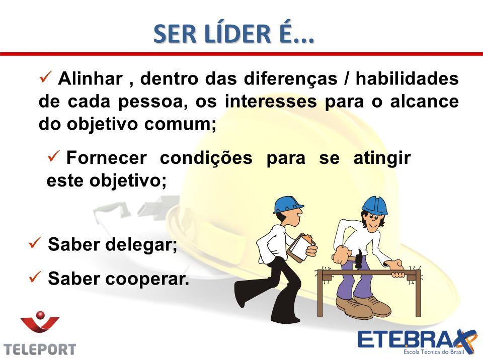 Saber delegar; Saber cooperar. Alinhar, dentro das diferenças / habilidades de cada pessoa, os interesses para o alcance do objetivo comum; Fornecer c