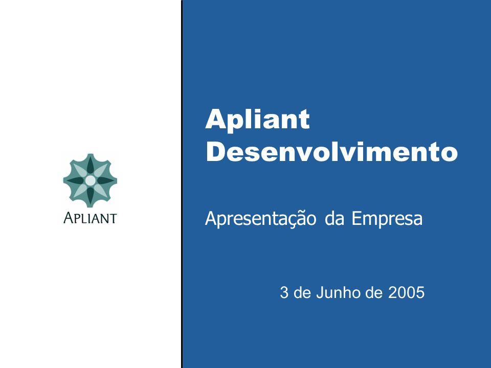 Apliant Desenvolvimento Apresentação da Empresa 3 de Junho de 2005