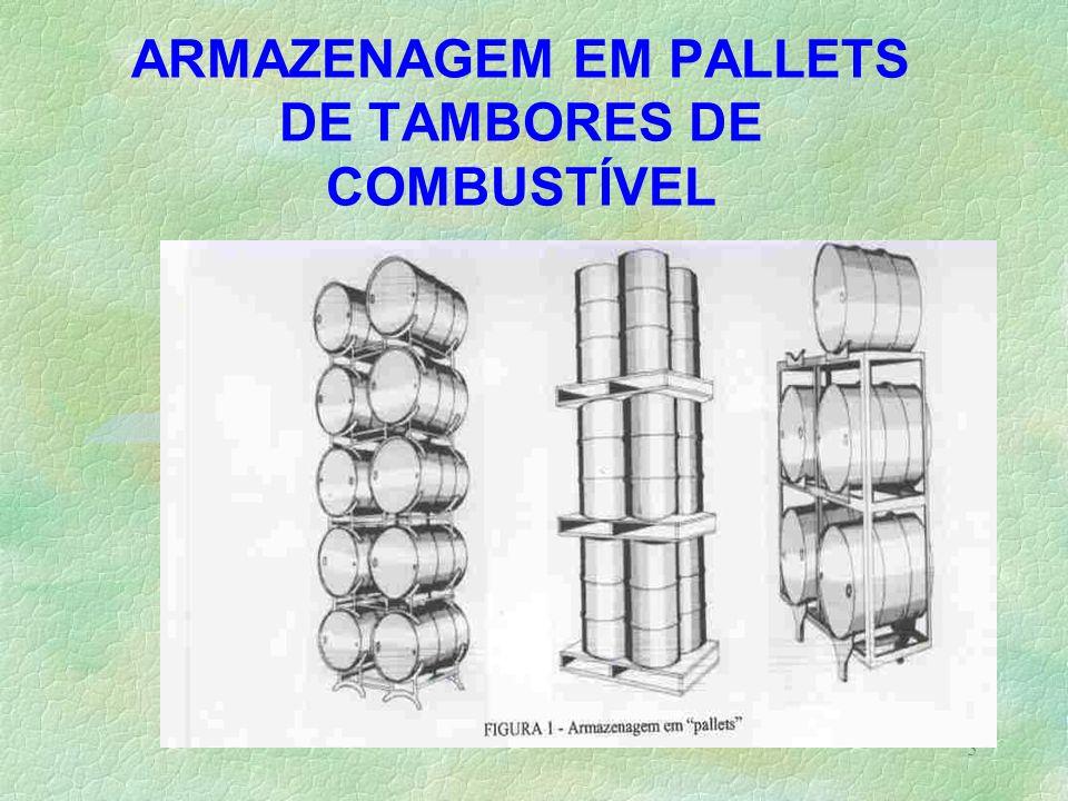 5 ARMAZENAGEM EM PALLETS DE TAMBORES DE COMBUSTÍVEL