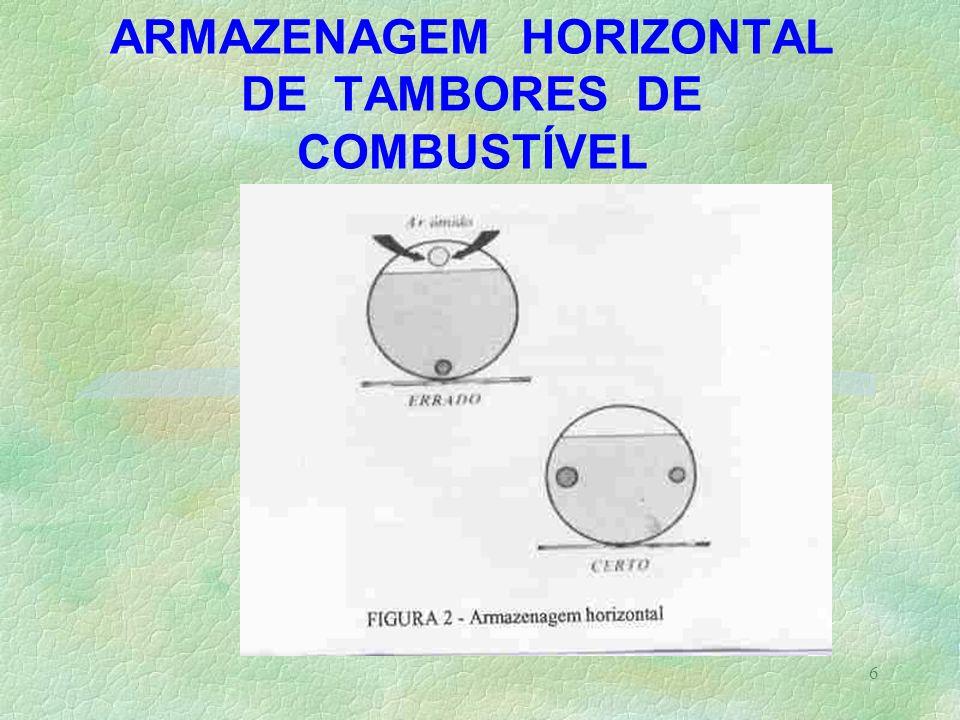6 ARMAZENAGEM HORIZONTAL DE TAMBORES DE COMBUSTÍVEL