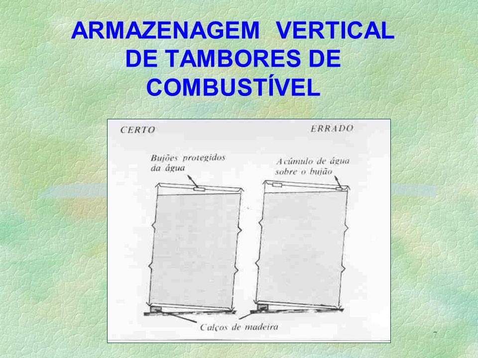 7 ARMAZENAGEM VERTICAL DE TAMBORES DE COMBUSTÍVEL