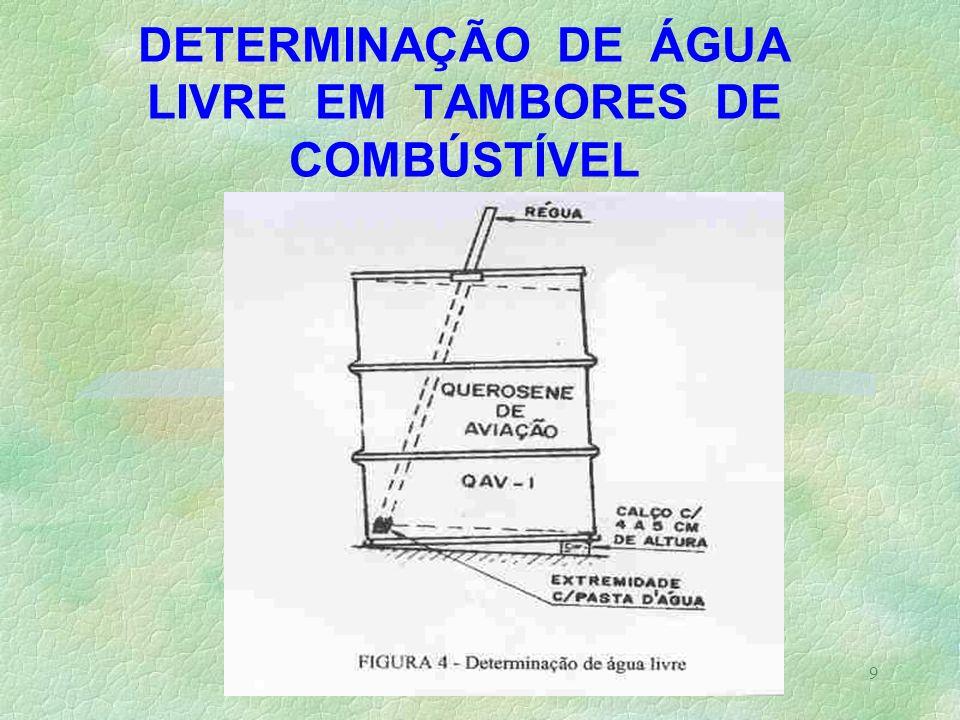 9 DETERMINAÇÃO DE ÁGUA LIVRE EM TAMBORES DE COMBÚSTÍVEL