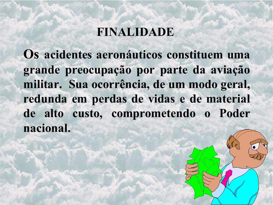 Os acidentes aeronáuticos constituem uma grande preocupação por parte da aviação militar.