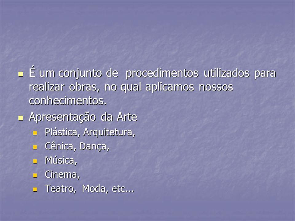 É um conjunto de procedimentos utilizados para realizar obras, no qual aplicamos nossos conhecimentos. É um conjunto de procedimentos utilizados para