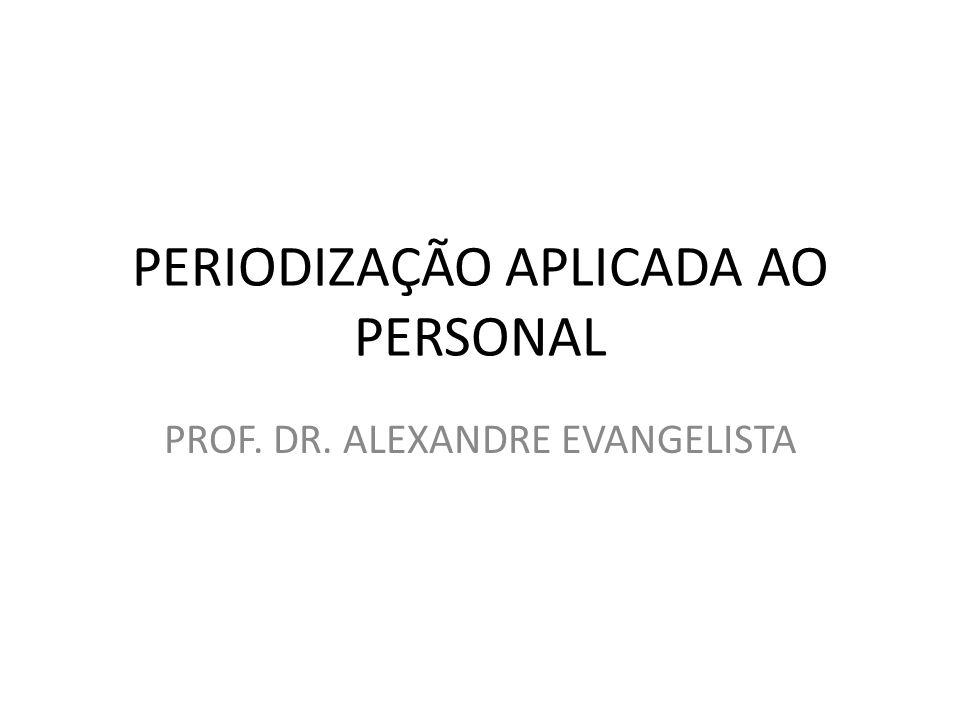 PERIODIZAÇÃO APLICADA AO PERSONAL PROF. DR. ALEXANDRE EVANGELISTA