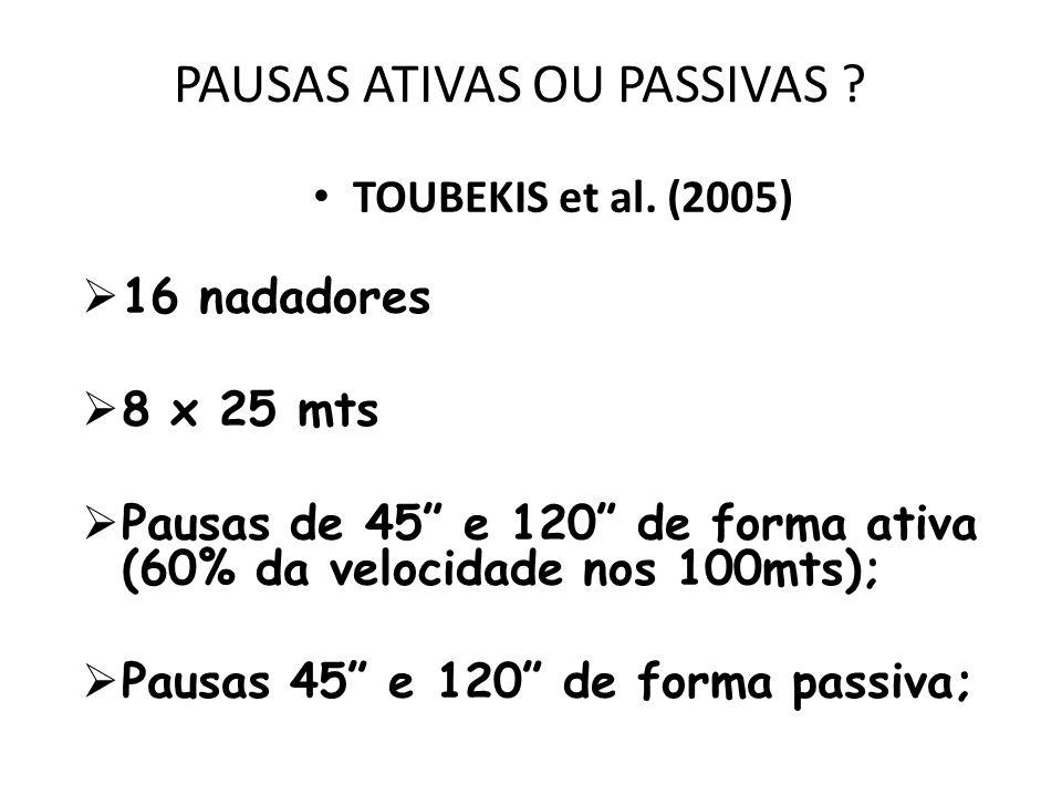PAUSAS ATIVAS OU PASSIVAS .TOUBEKIS et al.