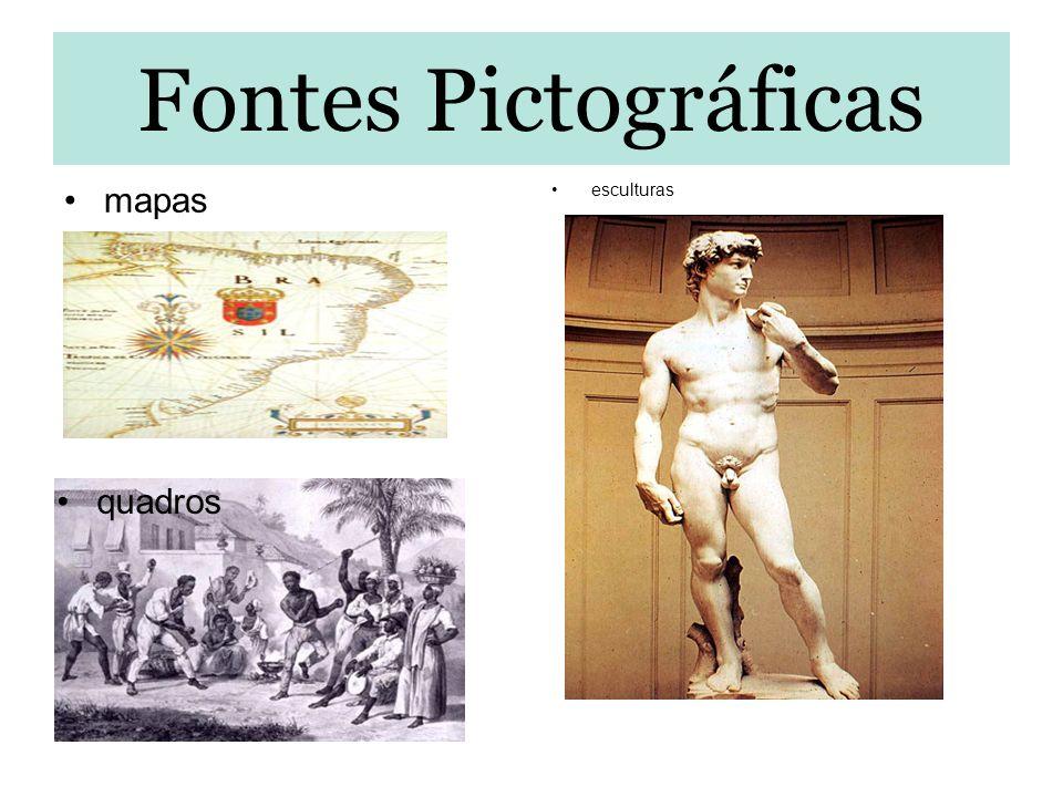 Fontes Pictográficas mapas esculturas quadros