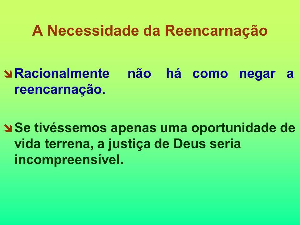 A Necessidade da Reencarnação Racionalmente não há como negar a reencarnação.
