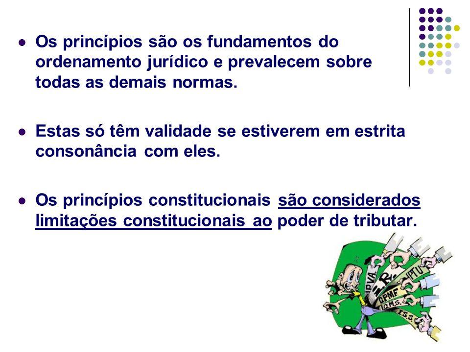 12 Os princípios são os fundamentos do ordenamento jurídico e prevalecem sobre todas as demais normas. Estas só têm validade se estiverem em estrita c