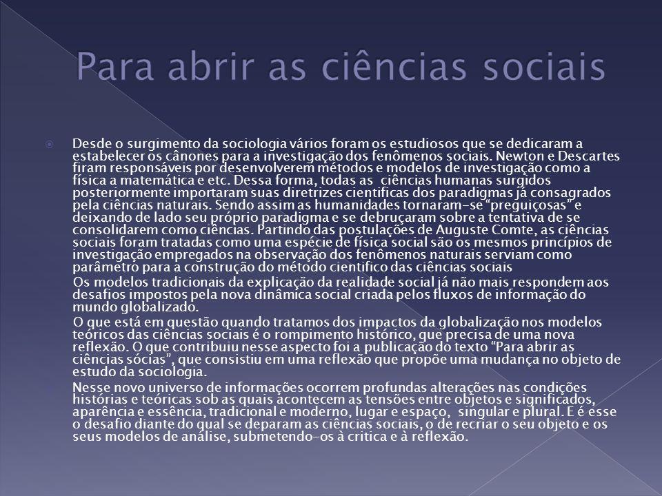 Desde o surgimento da sociologia vários foram os estudiosos que se dedicaram a estabelecer os cânones para a investigação dos fenômenos sociais. Newto